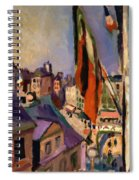 Flag Decorated Street 1906 Spiral Notebook