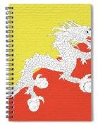 Flag Of Bhutan Wall Spiral Notebook