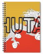 Flag Of Bhutan Word Spiral Notebook