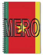 Flag Of Cameroon Word. Spiral Notebook