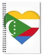Flag Of  Comoros Heart Spiral Notebook