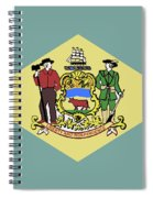 Flag Of Delaware Spiral Notebook