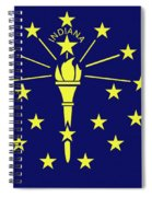 Flag Of Indiana Spiral Notebook
