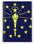 Flag Of Indiana Wall Spiral Notebook