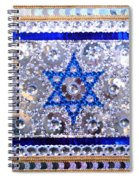 Flag Of Israel. Bead Embroidery With Crystals Spiral Notebook