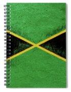 Flag Of Jamaica Grunge Spiral Notebook