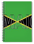 Flag Of Jamaica Word Spiral Notebook