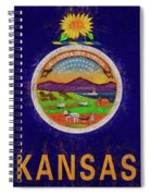 Flag Of Kansas Grunge Spiral Notebook