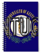 Flag Of Kentucky  Word Spiral Notebook
