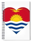 Flag Of Kiribati Heart Spiral Notebook