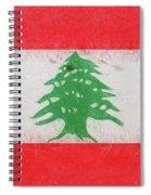 Flag Of Lebanon Grunge Spiral Notebook