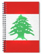Flag Of Lebanon Wall Spiral Notebook