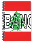 Flag Of Lebanon Word Spiral Notebook