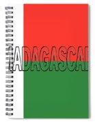 Flag Of Madagascar Word Spiral Notebook