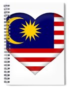 Flag Of  Malaysia Heart Spiral Notebook