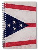 Flag Of Ohio Grunge Spiral Notebook