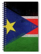 Flag Of  South Sudan Grunge Spiral Notebook