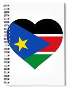 Flag Of  South Sudan Heart Spiral Notebook