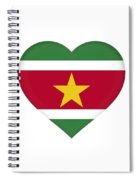Flag Of Suriname Heart  Spiral Notebook