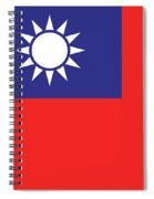 Flag Of Taiwan Spiral Notebook