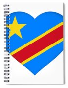 Flag Of The Congo Heart Spiral Notebook