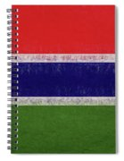 Flag Of The Gambia Grunge. Spiral Notebook