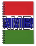 Flag Of The Gambia Word. Spiral Notebook