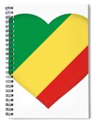 Flag Of The Republic Of The Congo Heart Spiral Notebook