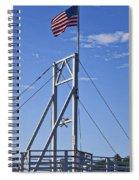 Flag On Perkins Cove Bridge - Maine Spiral Notebook
