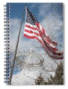 Flag Over Spokane Pavilion Spiral Notebook