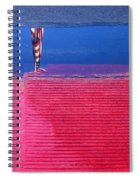 Flag Reflection In Water 1 Casa Grande Arizona 2005 Spiral Notebook