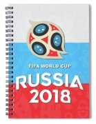 Flag Russia World Cup Spiral Notebook