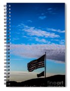 Flag With The Clouds Spiral Notebook