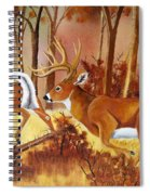 Flagging Deer Spiral Notebook
