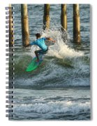 Flagler Beach Surf Day Spiral Notebook