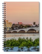 Flagler Bridge In The Evening I Spiral Notebook