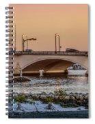 Flagler Bridge In The Evening IIi Spiral Notebook