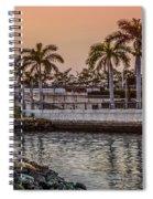Flagler Bridge In The Evening V Spiral Notebook