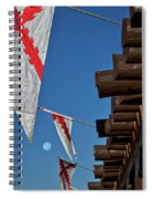 Flags At The Palace Of Governors Spiral Notebook
