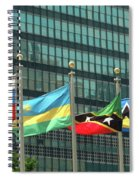 Flags Of Various Nations Outside The United Nations Building. Spiral Notebook