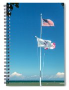 Flags On The Shoreline Spiral Notebook