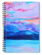 Flagstaff Lake Winter Sunset Spiral Notebook