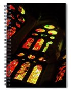 Flamboyant Stained Glass Window Spiral Notebook