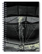 Flame On Hot Air Balloon Spiral Notebook