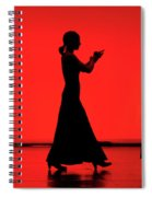 Flamenco Red An Black Spanish Passion For Dance And Rithm Spiral Notebook