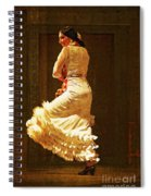 Flamenco Dancer #20 - The White Dress Spiral Notebook
