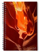 Flames In The Walls Of Antelope Spiral Notebook
