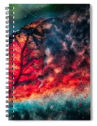 Flaming Fall Color Spiral Notebook
