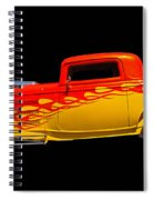 Flaming Hot Rod Spiral Notebook