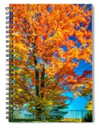 Flaming Maple - Paint Spiral Notebook